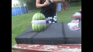 watermelon vs. rubber bands (loud explosion)