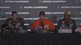 Dabo Swinney, Deshaun Watson and Hunter Renfrow speak following Clemson