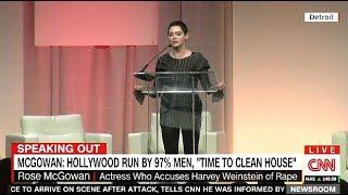 McGowan Slams Weinstein & Hollywood Run By 97% Men