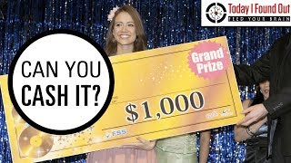 Is it Possible to Cash Oversized Novelty Prize Checks?