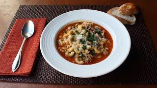 Sausage Pasta Fazool (Pasta e Fagioli Recipe) - How to Make Pasta Fazool