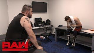 Sami Zayn feels the effects of Strowman & Lashley