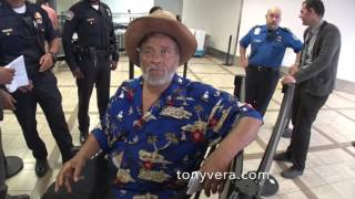 TSA checkpoint denying entry to civil rights attorney in a wheelchair with diabetes at LAX