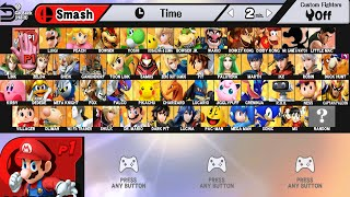 Super Smash Bros WII U All Characters And Alternate Costumes / Colors (WII U)