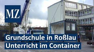 Unterricht im Container: Grundschule Waldstraße in Dessau-Roßlau stößt an Kapazitätsgrenze