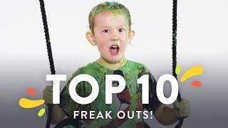 Top 10 Kids Try Freakouts! | Kids Try | HiHo Kids