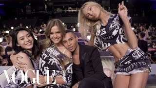 Victoria's Secret Angels Get a Backstage Punk Makeover | Vogue