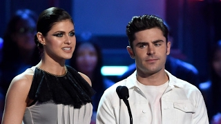 Zac Efron and Baywatch Co-Star Alexandra Daddario Get Flirty and Kiss