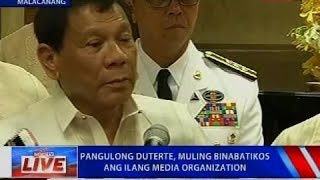 NTVL: Press conference of Pres. Duterte