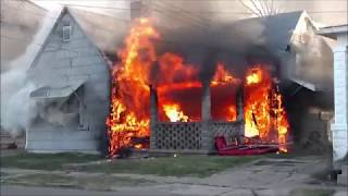 Newark Ohio Fire Department working house fire 232 S Williams incident command with audio