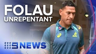 Wallabies Israel Folau not backing down from controversial posts | Nine News Australia