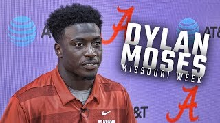 Alabama LB Dylan Moses answers media questions ahead of week 7 matchup with  Mizzou