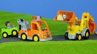 BAGGER, ABSCHLEPPWAGEN & LASTWAGEN Kinderfilm: Bagger & Abschleppwagen für Kinder | LEGO DUPLO