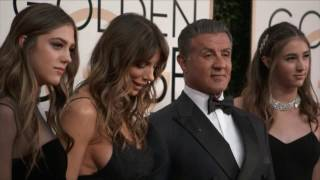 Golden Globes 2017 Fashion Cam Arrivals: Sylvester Stallone, Justin Timberlake
