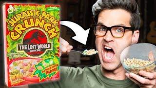 Discontinued Jurassic Crunch Cereal Taste Test