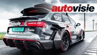 1000HP Audi RS6 DTM (ex-Jon Olsson) activates scooter alarms in Amsterdam - by Autovisie TV