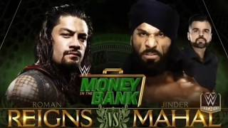 WWE Money in the Bank 2018 Roman Reigns vs Jinder Mahal Official Match Card