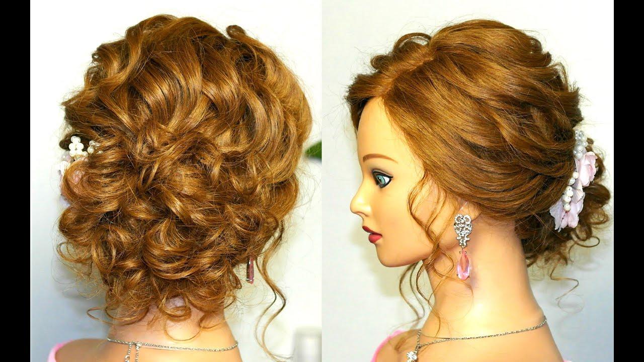 Прически для волос средней длины на выпускной пошагово