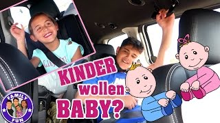 KINDER WOLLEN BABY | JUNGE ODER MÄDCHEN? Our life FAMILY FUN