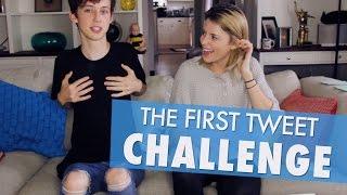FIRST TWEET CHALLENGE w/ TROYE SIVAN // Grace Helbig