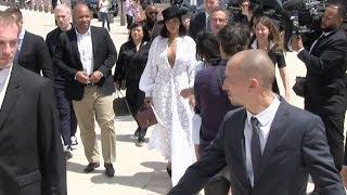 EXCLUSIVE - Rihanna arrives at Fondation Vuitton in Paris