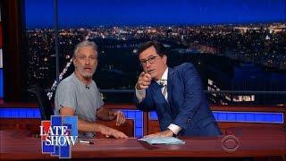 Jon Stewart Takes Over Colbert