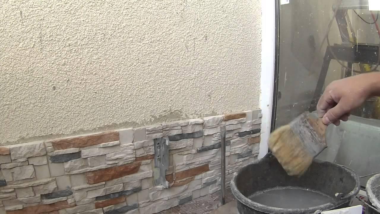 Кладем декоративный камень видео