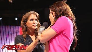 "Stephanie McMahon reveals Daniel Bryan's ""secret"": Raw, Aug. 11, 2014"