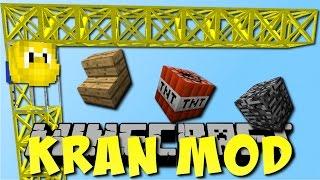 KRAN MOD in Minecraft! (Cranes & Construction Mod) [Deutsch]