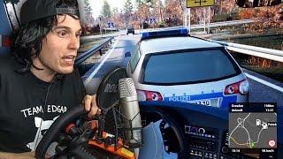 SCHWERER UNFALL MIT DER POLIZEI! ✪ FERNBUS SIMULATOR mit Lenkrad