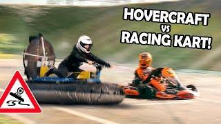 SCHWEBENDES SCHLAUCHBOOT vs 150km/h Rennkart! | Selbstgebautes Hovercraft #3