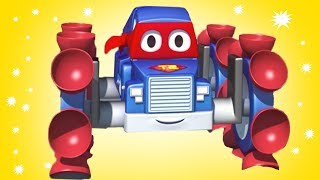 Carl der Transformer Truck ist Der kletternde Carl in Autopolis| Auto und Lastwagen Bau Cartoons