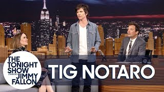Tig Notaro Tries Her Comedic Party Bits on Sarah Paulson and Jimmy