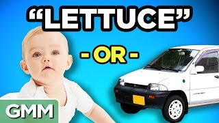 Celebrity Baby or Car Name (GAME)