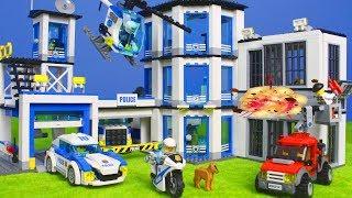 LEGO POLIZEI Kinderfilm: Polizeiauto Polizeistation Spielzeugautos für Kinder   Lego Episode deutsch