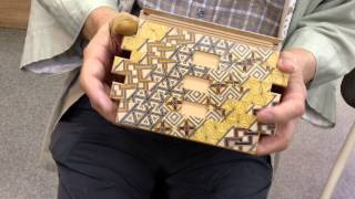 Japanese puzzle box 72steps with secret compartment Koyosegi 秘密箱72+1回仕掛け 小寄木