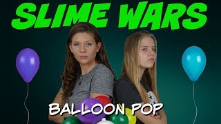 SLIME WARS || MAKING SLIME WITH BALLOONS || Taylor and Vanessa
