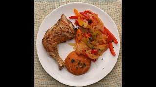 Amiwo with Grilled Chicken