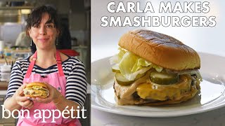 Carla Makes BA Smashburgers | From the Test Kitchen | Bon Appétit