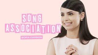 Sofia Carson Sings Ariana Grande, Dua Lipa, and Justin Bieber in a Game of Song Association   ELLE