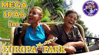 ACTION FUN EUROPA-PARK Mega Erlebnis Freizeitpark mit krassen Achterbahnen Attraktionen| FAMILY FUN