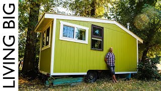 70 Year Old Builds Innovative Off-Grid Tiny House For Debt Free Retirement