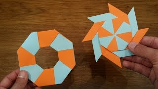 How To Make a Paper Transforming Ninja Star - Origami