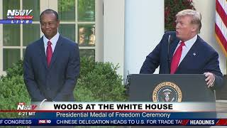MEDAL OF FREEDOM: President Trump honors Tiger Woods at the White House
