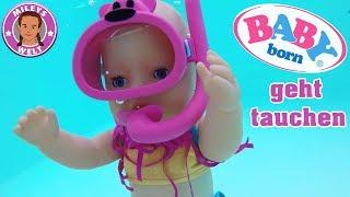 BABY BORN POOL ABENTEUER - Mileys Lotta im Urlaub | Mileys Welt