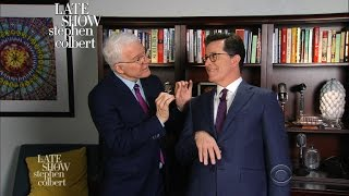 Steve Martin Teaches Stephen Colbert How To Comedy