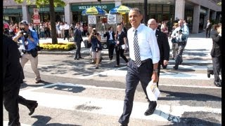 President Obama Walks The Streets Of Washington