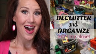 ORGANIZE and DECLUTTER WITH ME 2018 | TOY ORGANIZATION and STORAGE