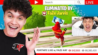 I Stream Sniped FaZe Kay until he RAGE QUIT FORTNITE