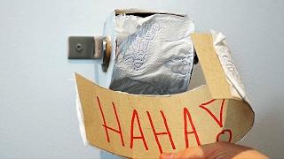 6 Funny Toilet Pranks